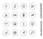 birthday icon set. collection...   Shutterstock .eps vector #1204256005