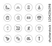 household icon set. collection... | Shutterstock .eps vector #1204256398