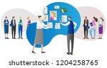 corporate company human... | Shutterstock .eps vector #1204258765