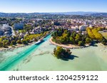 aerial view of annecy lake...   Shutterstock . vector #1204259122