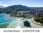 aerial view of annecy lake...   Shutterstock . vector #1204259158