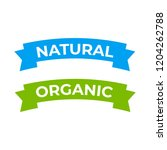 natural label and organic... | Shutterstock . vector #1204262788