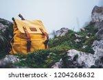 hipster hiker tourist yellow...   Shutterstock . vector #1204268632