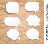 set speech bubble with gradient ... | Shutterstock .eps vector #1204270582