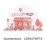 amusement park   thin line... | Shutterstock .eps vector #1204276972
