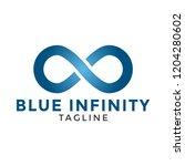 blue infinity logo icon design...   Shutterstock .eps vector #1204280602