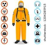 industry concept. detailed... | Shutterstock .eps vector #1204285915