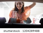 woman are holding bags. the... | Shutterstock . vector #1204289488