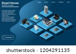 smart home wifi connected... | Shutterstock .eps vector #1204291135