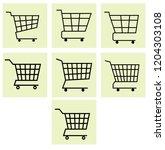 shopping cart icon vector  | Shutterstock .eps vector #1204303108