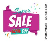 big sale poster  | Shutterstock . vector #1204311535