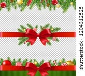 xmas garland set transparent... | Shutterstock .eps vector #1204312525