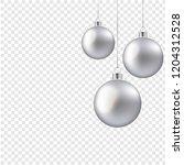 christmas balls isolated... | Shutterstock .eps vector #1204312528