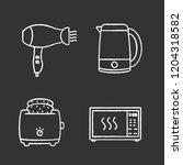 household appliance chalk icons ... | Shutterstock .eps vector #1204318582