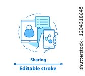 content sharing concept icon.... | Shutterstock .eps vector #1204318645