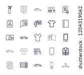 blank icon. collection of 25... | Shutterstock .eps vector #1204319062