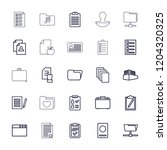 document icon. collection of 25 ... | Shutterstock .eps vector #1204320325
