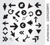 arrow icon set isolated on gray ...