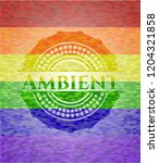 ambient lgbt colors emblem  | Shutterstock .eps vector #1204321858