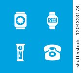 dial icon. collection of 4 dial ... | Shutterstock .eps vector #1204323178