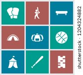 recreation icon. collection of... | Shutterstock .eps vector #1204324882