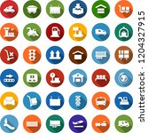 color back flat icon set  ... | Shutterstock .eps vector #1204327915