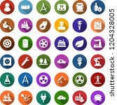 color back flat icon set  ... | Shutterstock .eps vector #1204328005