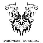 abstract harlequin face eyes up | Shutterstock .eps vector #1204330852