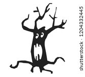 scary tree icon. simple...   Shutterstock .eps vector #1204332445