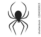 death spider icon. simple... | Shutterstock .eps vector #1204333015