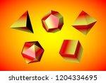 geometric figures tetrahedron ... | Shutterstock . vector #1204334695