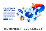 customer attraction concept... | Shutterstock .eps vector #1204336195