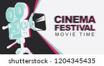 cinema festival poster with old ... | Shutterstock .eps vector #1204345435