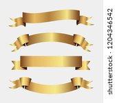 set of golden ribbons vector.   Shutterstock .eps vector #1204346542