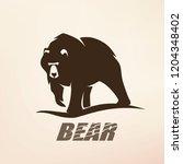 bear stylized vector silhouette ... | Shutterstock .eps vector #1204348402