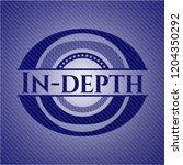 in depth emblem with jean... | Shutterstock .eps vector #1204350292