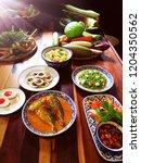 thai food  thai food is very...   Shutterstock . vector #1204350562