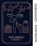 luxury christmas greeting card... | Shutterstock .eps vector #1204354855