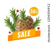 winter sale banner with with... | Shutterstock .eps vector #1204354912