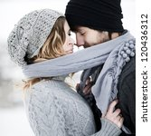 Happy Young Couple In Winter...