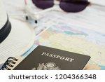 closeup united states passport...