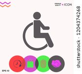 wheelchair handicap icon   Shutterstock .eps vector #1204374268