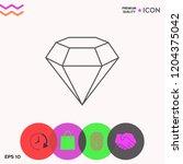 diamond sign. jewelry symbol.... | Shutterstock .eps vector #1204375042