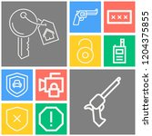 simple set of  10 outline icons ... | Shutterstock .eps vector #1204375855