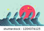 abstract wavy background. asian ... | Shutterstock .eps vector #1204376125