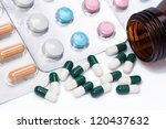 capsules and pills with bottle
