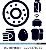 set of 6 food filled icons such ... | Shutterstock .eps vector #1204378792