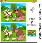 cartoon illustration of finding ... | Shutterstock .eps vector #1204387795