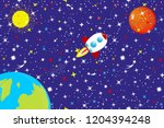 the starry sky of the universe. ... | Shutterstock .eps vector #1204394248