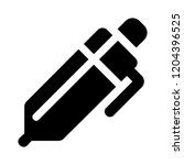 vector ink fountain pen icon ... | Shutterstock .eps vector #1204396525